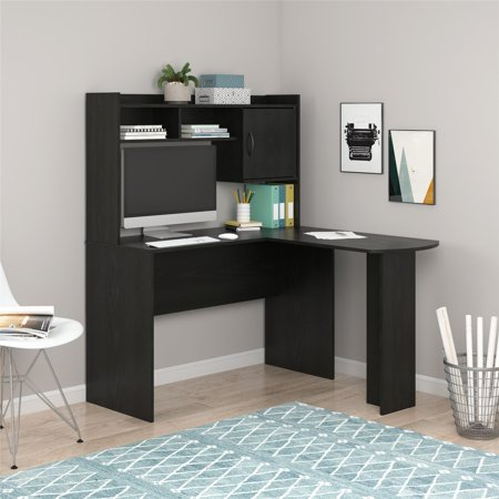 Mainstays L-Shaped Desk with Hutch, Multiple - 36 Straight Desk Hutch