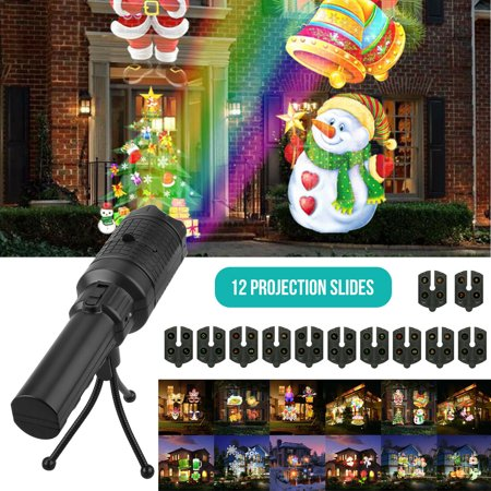 Image of LED Laser Projector Lights Halloween Xmas Outdoor Garden Landscape 12 Pattern