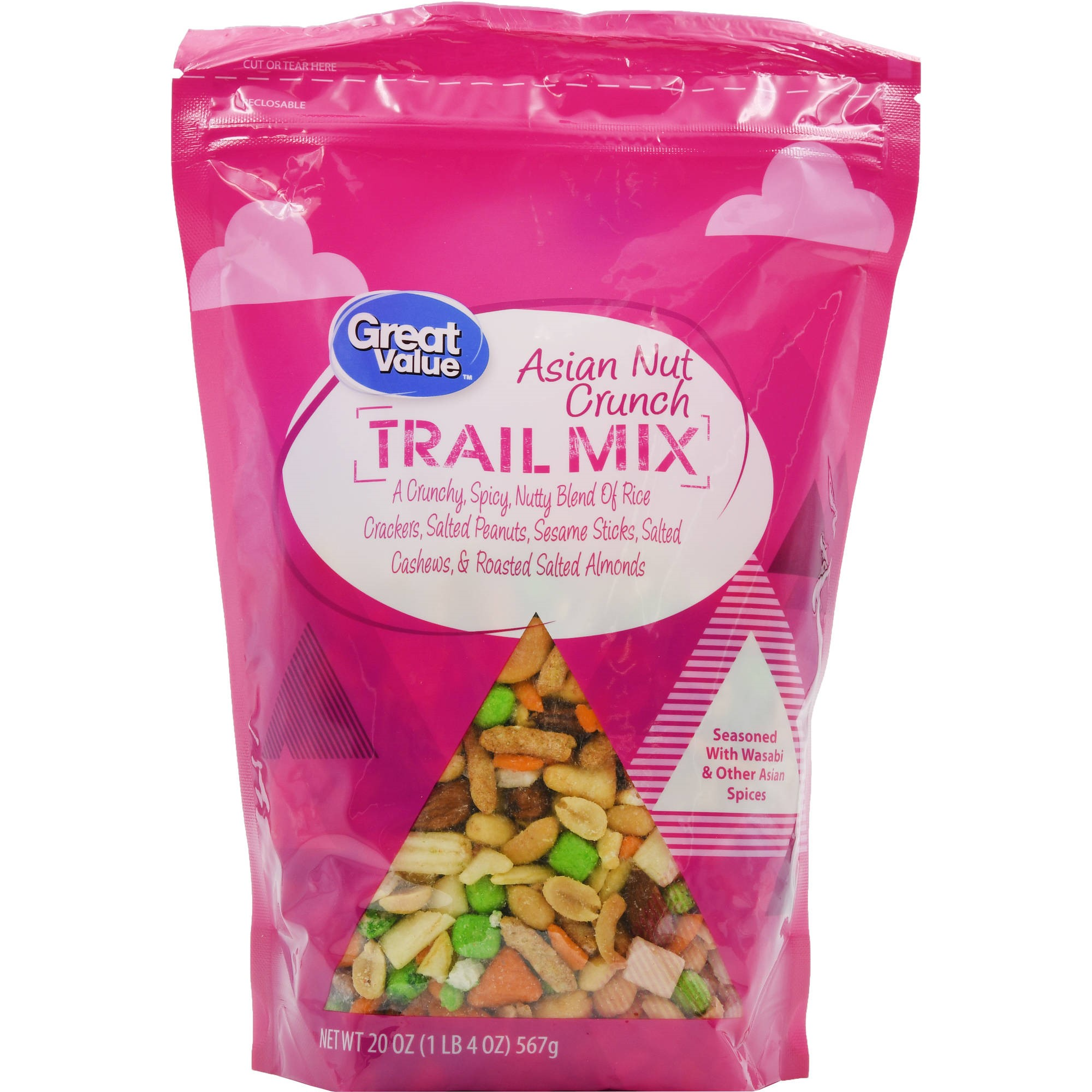 Great Value Asian Nut Crunch Trail Mix, 20 Oz.