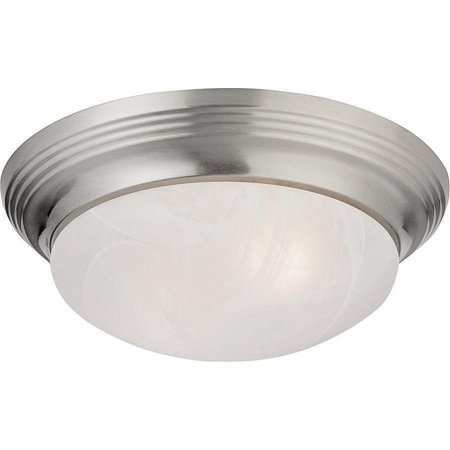 Boston Harbor 563116BN Ceiling Fixture, A19/CFL, 60/13 W, 2 Lamp