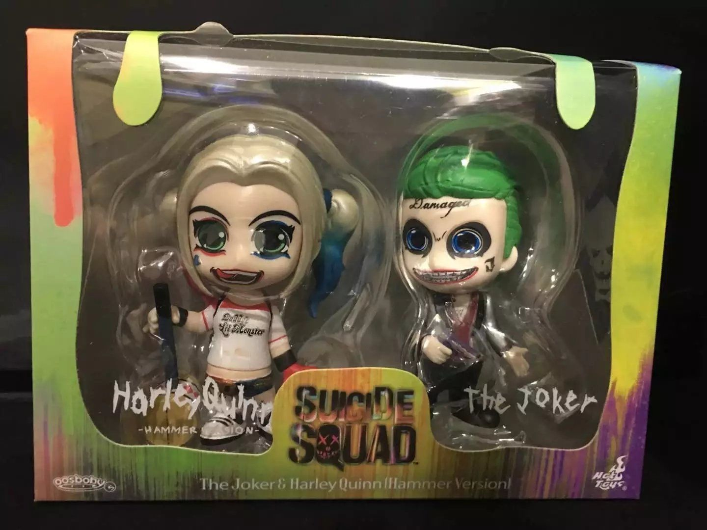 2X Suicide Squad Figure The Joker and Harley Quinn Hammer Toy by YX001
