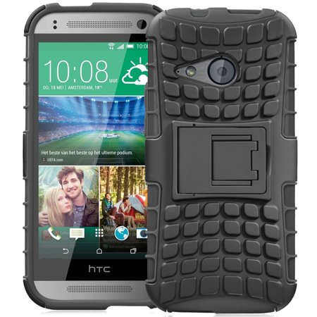 Fosmon  Rugged  Htc One Remix Case  Htc One Mini 2  Case   Hybo Ragged Heavy Duty Hybrid Protective Cover With Kickstand   Retail Packaging  Black
