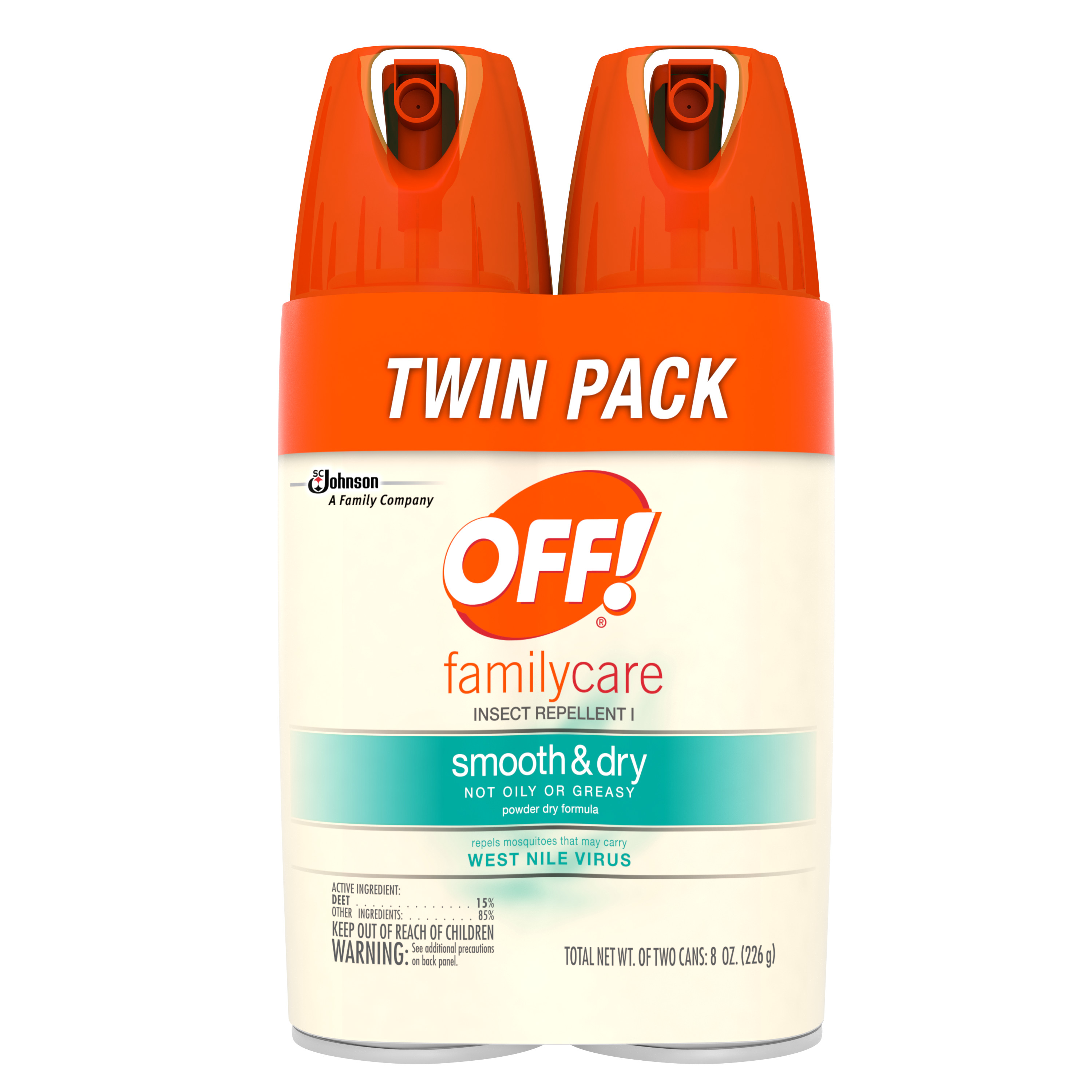 OFF! FamilyCare Insect Repellent I Smooth & Dry, 2 count, 4 Ounces