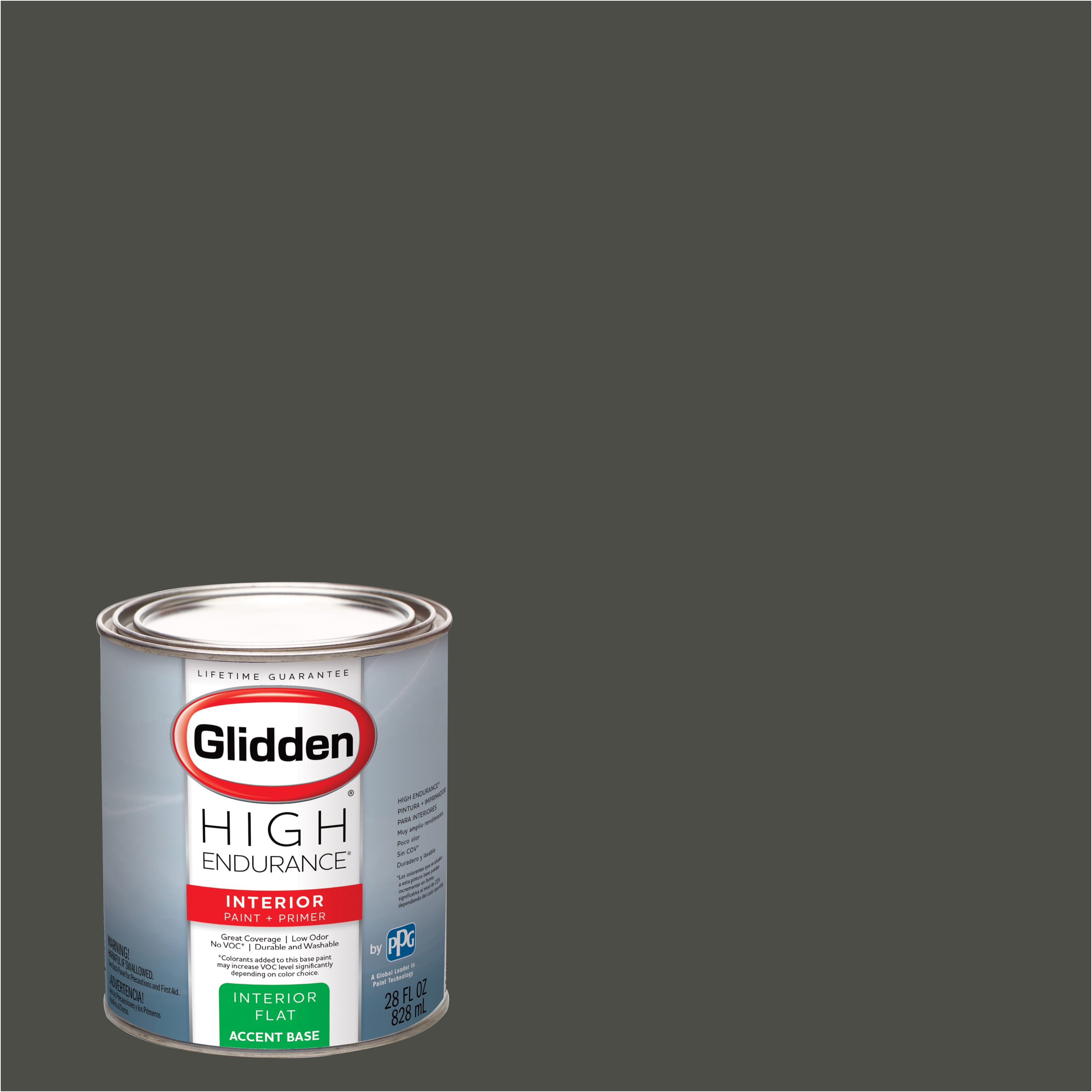 Glidden High Endurance Interior Paint And Primer Forest Black 30yy 10 038