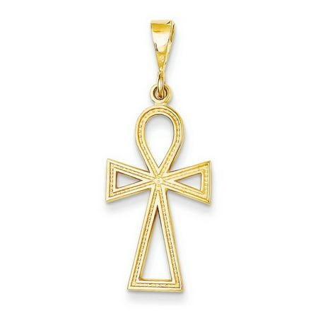 14k Yellow Gold Ankh Cross Charm