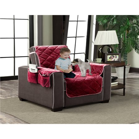 Burgundy Red Micro Suede Slipcover Pet Dog Cat Furniture
