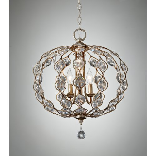 Feiss Leila F2741 / 3BUS Chandelier - 19.38W in. - Burnished Silver