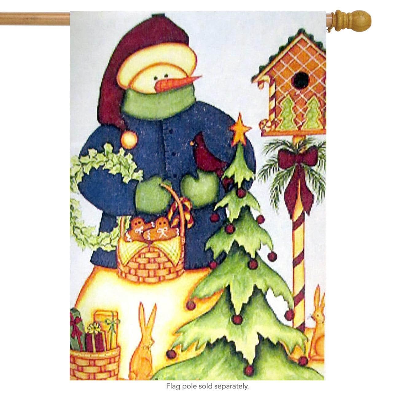 "Gingerbread Birdhouse Christmas House Flag Seasonal Yard Banner 28"" x 40"" by"