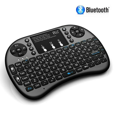 Igo Bluetooth Keyboard - Rii i8+ BT Mini Wireless Bluetooth Backlight Touchpad Keyboard with Mouse for PC/Mac/Android