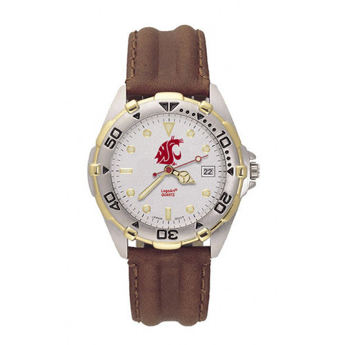NCAA - Washington State Cougars Men's All Star Leather Watch