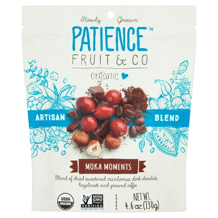 Patience Fruit; Co, Dried Fruit Moka Moments, 4.6 Oz (Pack Of 8)