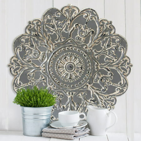 Stratton Home Decor Grey Medallion Wall