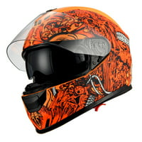 1Storm Motorcycle Full Face Helmet Street Bike Dual Visor/Sun Shield HJAH15  Matt Black