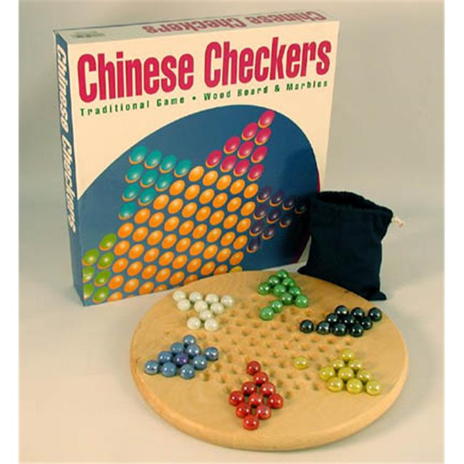 WWI 22760 Wood Round Chinese Checkers