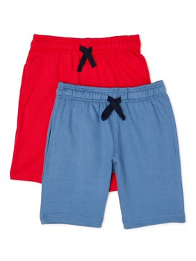 Hollywood Boys Terry Pull On Shorts, 2-Pack, Sizes 4-7