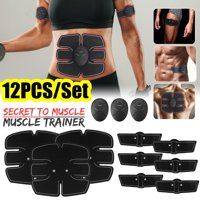 Abdominal Toning Belt EMS ABS Toner Body Muscle Trainer Wireless Portable Unisex Fitness Training Gear for Abdomen/Arm/Leg Training Home Office Exercise Workout Equipment