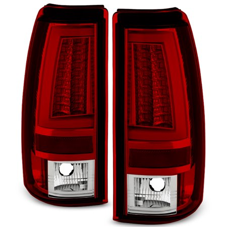 Fits 2003-2006 Chevy Silverado GMC Sierra 1500 2500HD 3500 Red LED Tail Lights