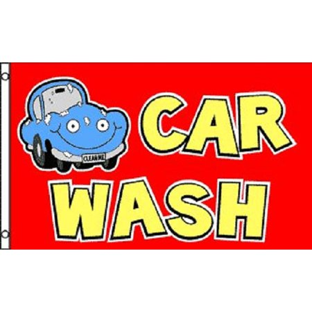 Red CAR WASH Flag Business Advertising Banner Outdoor Pennant 3x5 Auto
