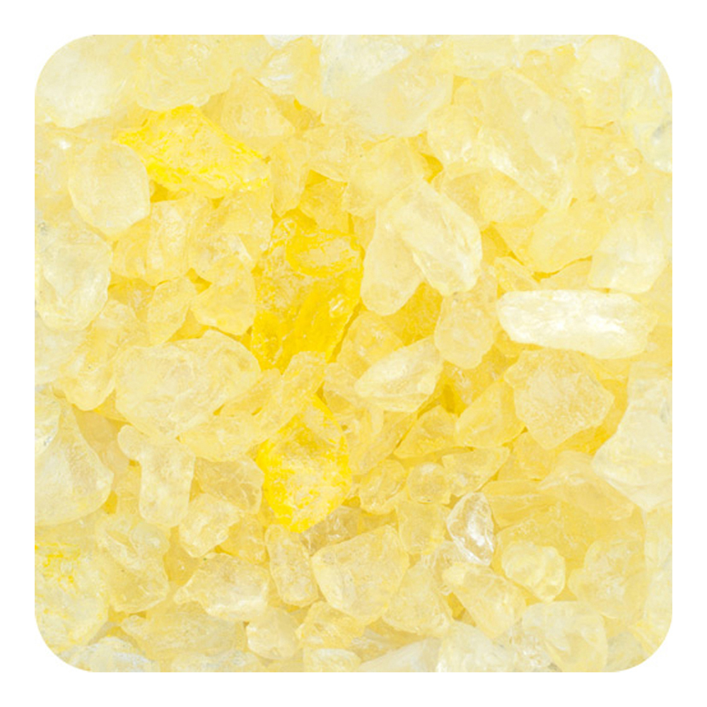 Colored ICE Real Glass Gems, Scatters 20 lb (9.09 kg) Box; 4 - 10 mm - Light Yellow