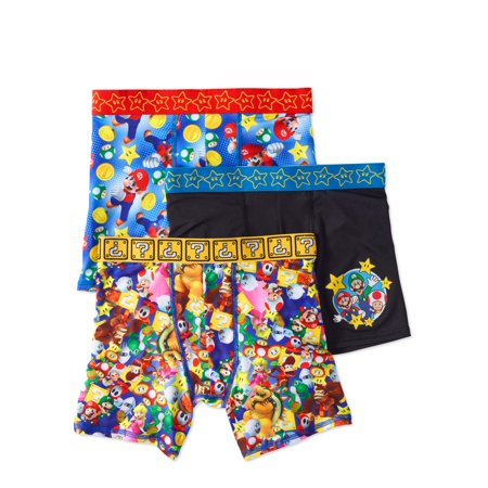 Mario Bros. Boys Athletic Boxer Briefs, 3