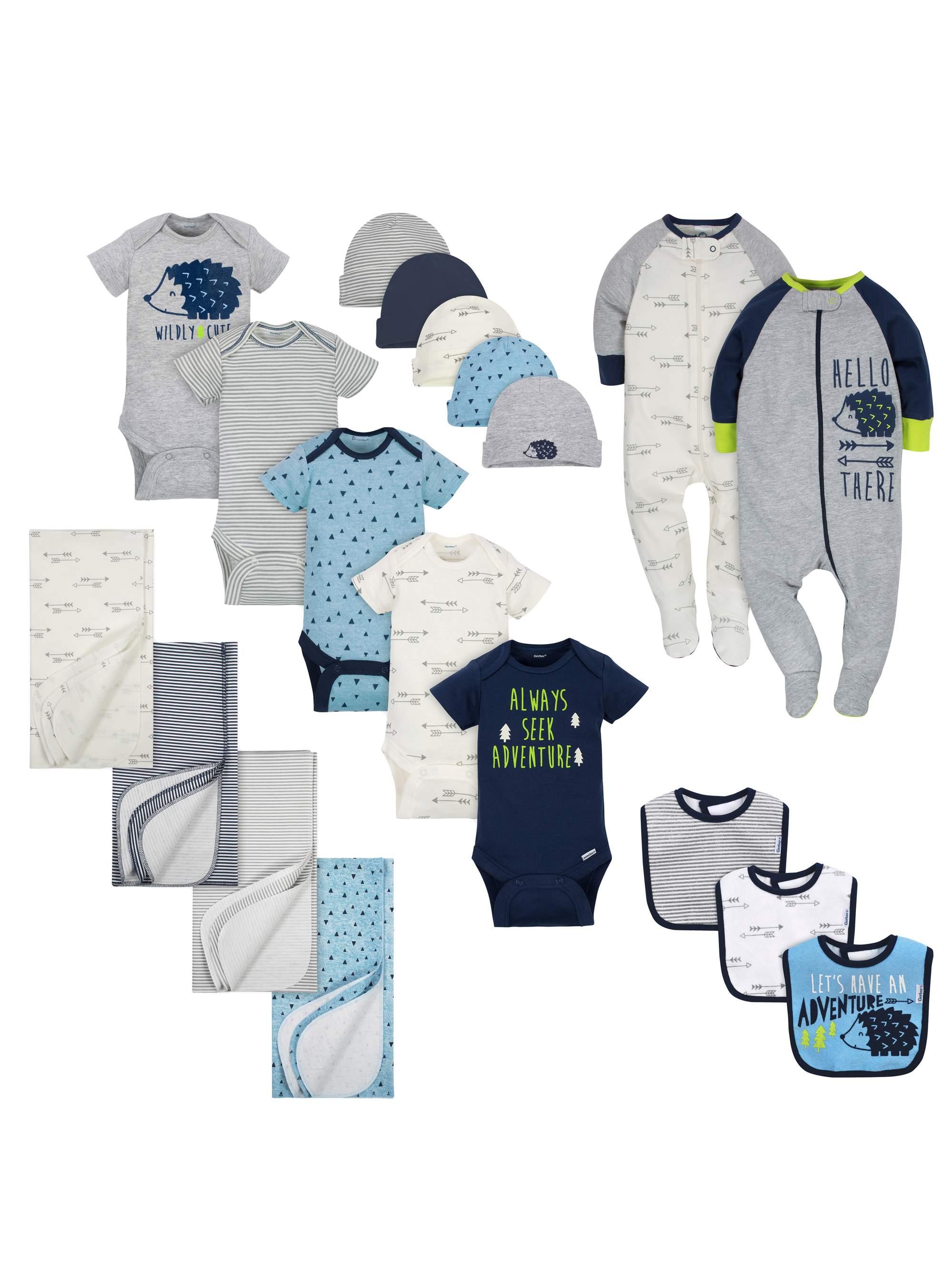 Layette Essentials Baby Shower Gift Set, 19pc (Baby Boy)
