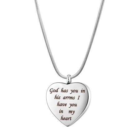 Anavia I Have You In My Heart Cremation Jewelry Memorial Necklace Ash Urn Keepsake With Gift Box