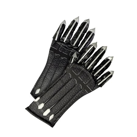 Marvel Black Panther Movie Child Deluxe Black Panther Gloves With Claws Halloween Costume Accessory](Claw Kicker Halloween)
