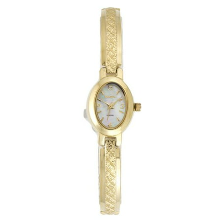 - Women's Diamond Cut Half Bangle Watch