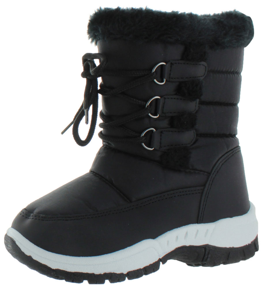 Moda Essentials Jet Youth Girl's Waterproof Nylon Winter Snow Boots