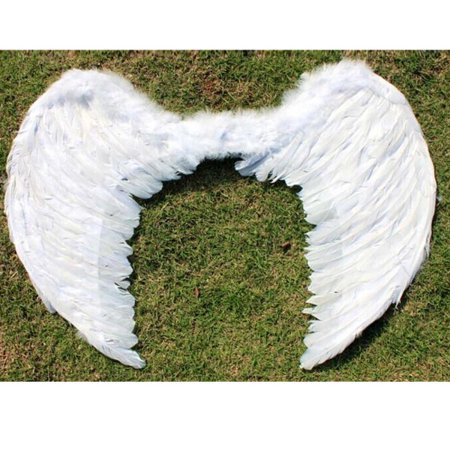 Technology Halloween Costume Ideas (Kids Girls White/Black Feather Angel Wings for Dance Halloween Party Cosplay Costume Stage Show Masquerade Carnival Holiday Fancy)