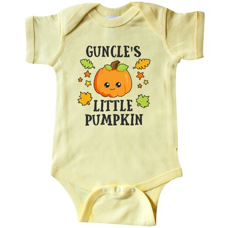 Inktastic Guncles Little Pumpkin With Leaves And Stars Infant Creeper Halloween
