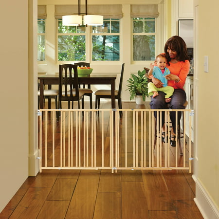 north state natural wood extra wide swing baby gate 60 103. Black Bedroom Furniture Sets. Home Design Ideas
