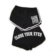 Close Your Eyes Women's  We Will Overcome Booty Shorts Black