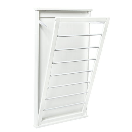 Honey Can Do Large Wall-Mounted Drying Rack, White ()