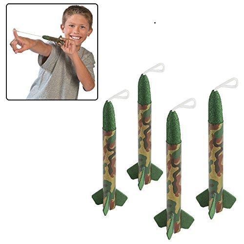 """Camouflage Rocket Flyers (12 Pack) Foam. 7""""."""