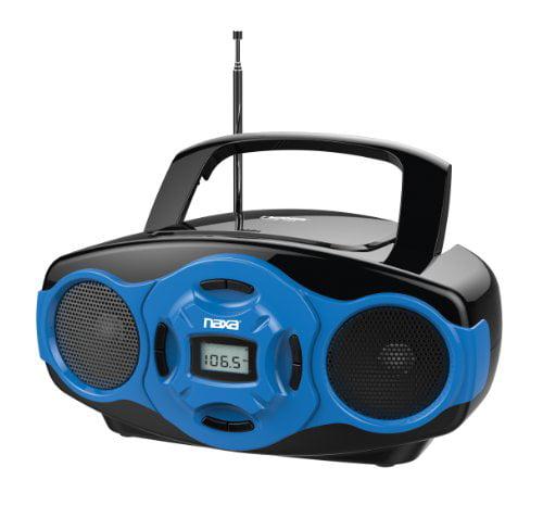 Naxa NPB-264 BL Portable MP3/CD Mini Boom Box and USB Player, Blue