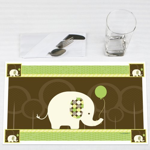 Elephant Party Placemats Set of 12 by Big Dot of Happiness, LLC