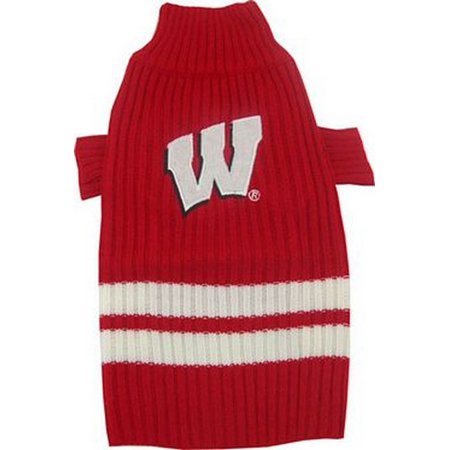 size 40 e07e4 b778a NCAA 301-36 Wisconsin Badgers Pet (Dog) Sweater - Size Medium