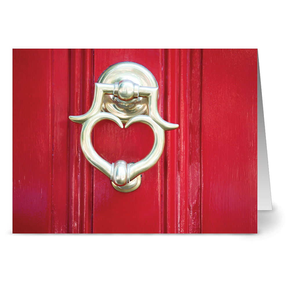24 Note Cards - Love at the Door - Blank Cards - Red Envelopes Included