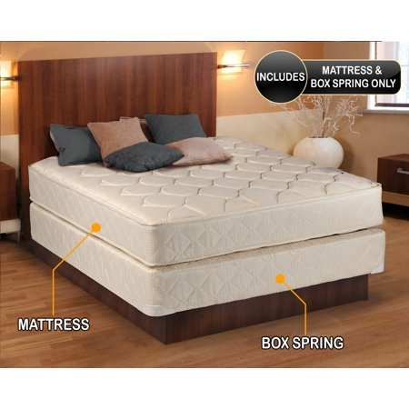 dreamy classic full size 54 x75 x9 gentle firm mattress and box spring set fully assembled. Black Bedroom Furniture Sets. Home Design Ideas