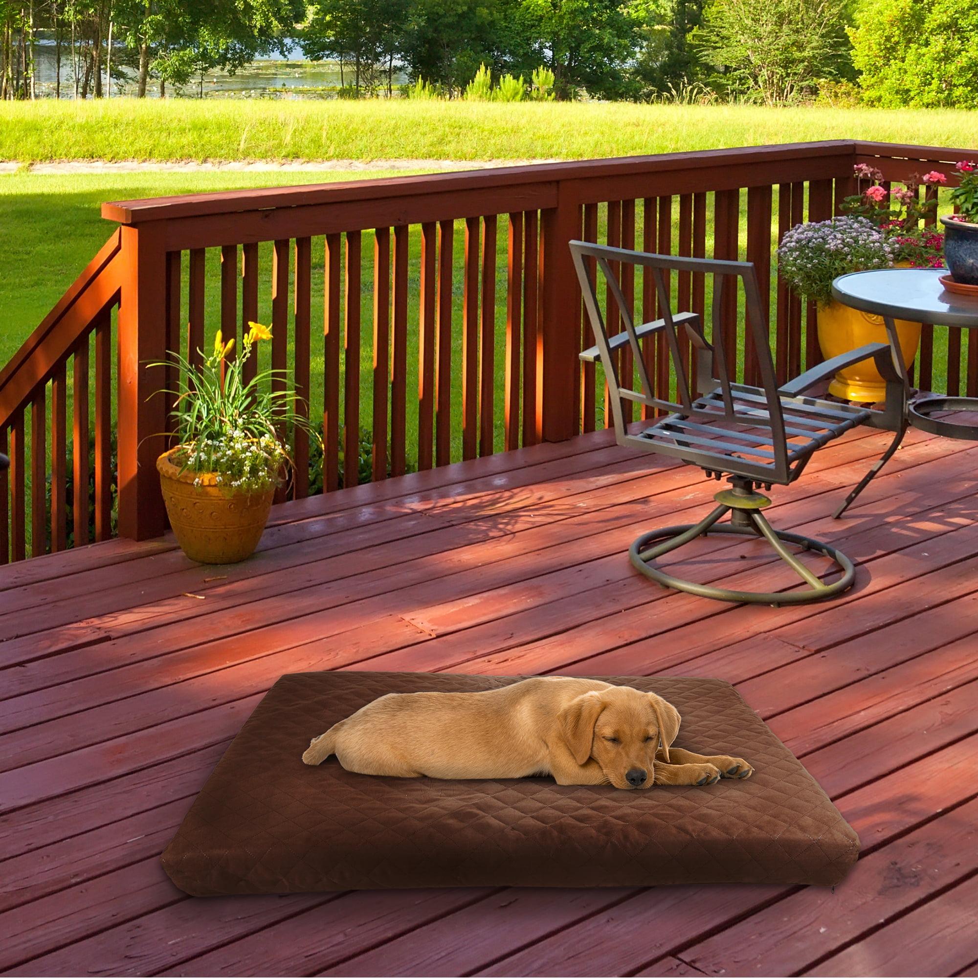 Waterproof Memory Foam Pet Bed Indoor Outdoor Dog Bed With Water
