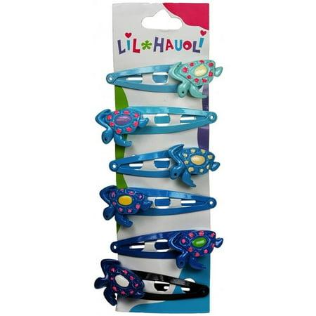 Lil Hauoli Kids Hair Snap Clips Set of 6 Turtle -
