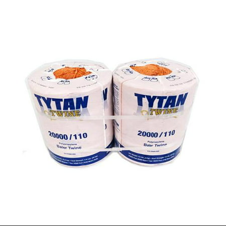 Tytan International PBT20110TONBP Baler Twine, Orange Poly, Two 10,000-Ft. Spools