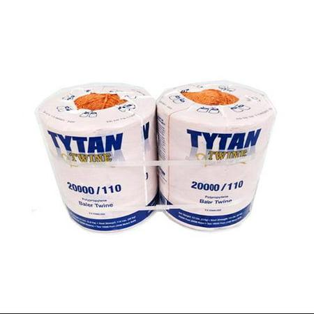 Tytan International PBT20110TONBP Baler Twine, Orange Poly, Two 10,000-Ft. Spools
