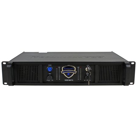 Technical Pro 2U Professional 2CH Power Amplifier, 110/220V, 6200W Peak Power
