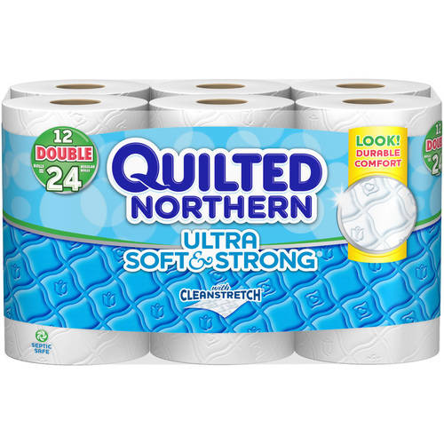 Quilted Northern Ultra Soft & Strong Toilet Paper, 12 Double Rolls, Bath Tissue