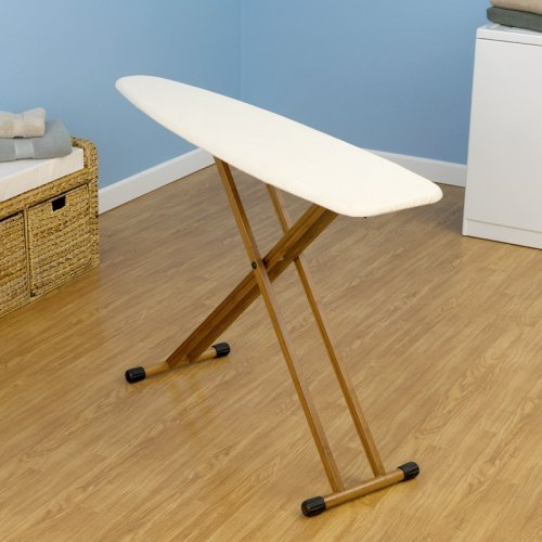 Household Essentials Bamboo Four Leg Ironing Board