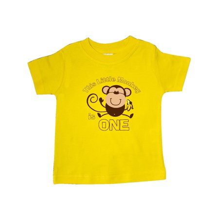 Little Monkey 1st Birthday Boy Baby T Shirt