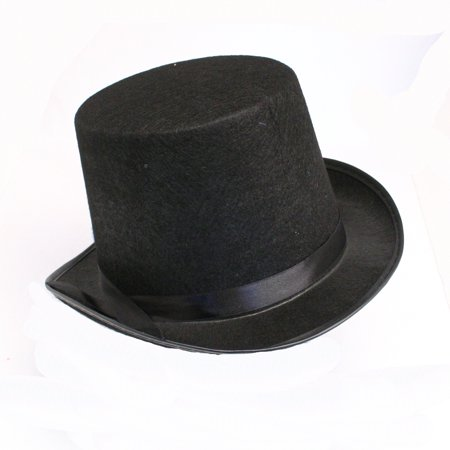 Black Felt Top Hat - Collapsible Top Hats