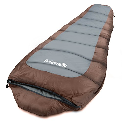 BigFoot Outdoor XXL (Nomad) Mummy Sleeping Bag 7.5 Feet Long � Great for Camping, Hiking, Trekking + Free Stuff-Sack by Bigfoot Outdoor Products
